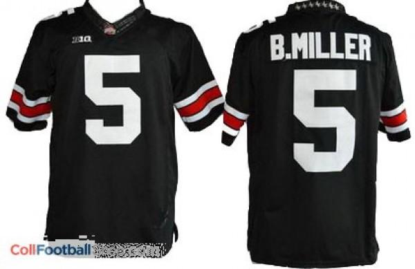 Braxton Miller Ohio State Buckeyes #5 Youth Football Jersey - Black