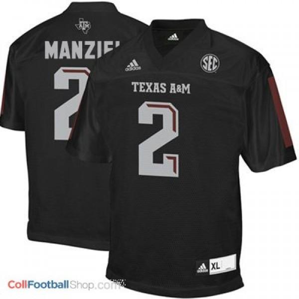 Johnny Manziel Texas A&M Aggies #2 Football Jersey - Black