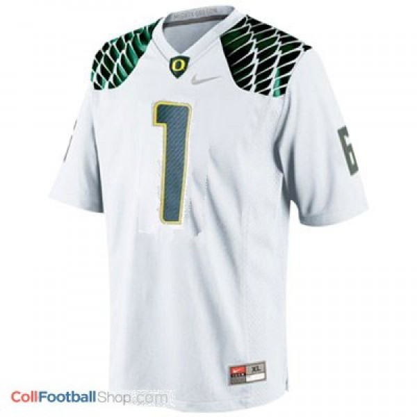 reputable site 70a4a a251d Josh Huff Oregon Ducks #1 Youth Football Jersey - White