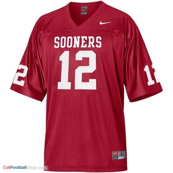 Landry Jones Oklahoma Sooners #12 Youth Football Jersey - Crimson Red
