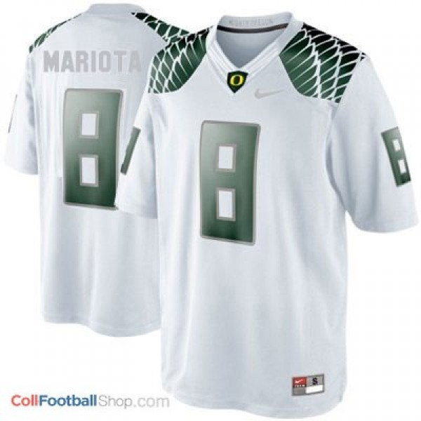 100% authentic 9745f a7492 Marcus Mariota Oregon Ducks #8 Youth Football Jersey - White