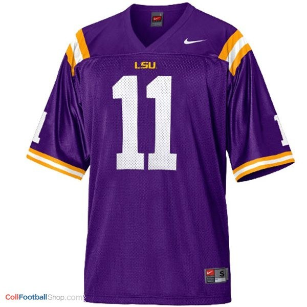 cheaper 051d9 0d054 Spencer Ware LSU Tigers #11 Mesh Youth Football Jersey - Purple
