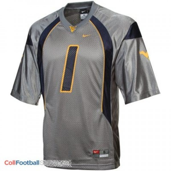 low priced 09ccb 9d58f Tavon Austin West Virginia Mountaineers #1 Football Jersey - Gray