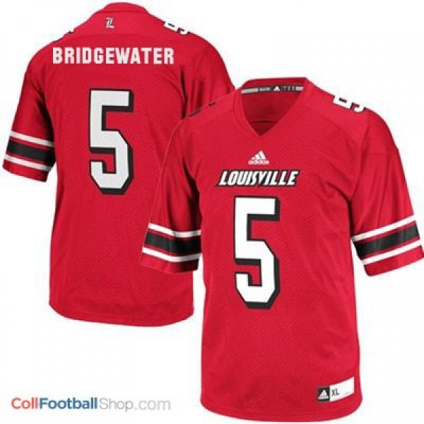 san francisco f478f 7ef31 Teddy Bridgewater Louisville Cardinals #5 Youth Football Jersey - Red