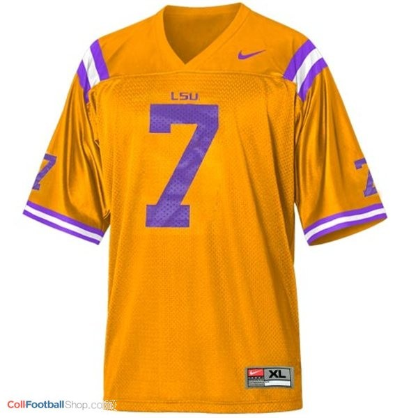 lowest price 92561 d7a2a Tyrann Mathieu LSU Tigers #7 Mesh Youth Football Jersey - Gold